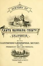 1883 SANTA BARBARA County California CA, History and Genealogy Ancestry DVD V95