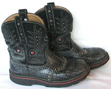 Ariat Womens Fatbaby Gembaby 16405 Distressd Leather Cowgirl Boots Sz 7.5 B GUC