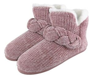 DUNLOP - Womens Cute Soft Luxury Faux Fur Indoor Slipper Booties House Boots