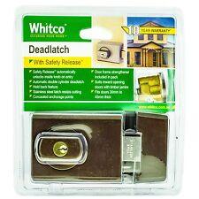 Whitco DEADLATCH Double Cylinder for Timber/Metal Door- BRONZE *Aust Brand