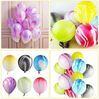 10-100Pcs/Lot Marble Agate Cloud Latex 12'' Balloon for Birthday Wedding Baby