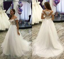 Beach Simple Wedding Dresses Bridal Gowns Off Shoulder Lace Appliques Customize