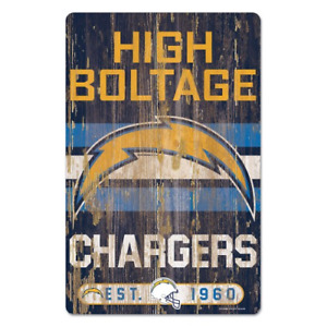 Los Angeles Chargers 11x17 Wood Sign Slogan Design NFL Wall Banner WinCraft