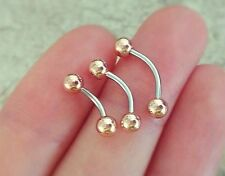 16g belly button ring classic naval ring silver rose gold dainty rook piercing