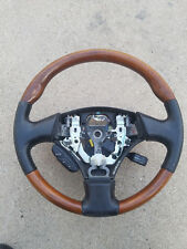1998 2005 LEXUS GS300 GS400 GS430 OEM Black Leather Wood Grain Steering Wheel