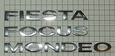 GENUINE FORD SINGLE CHROME LETTER DIGIT - FIESTA FOCUS ZETEC S FLAME STYLE GHIA