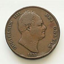 More details for william iv penny 1831 ww, gf