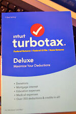 2015 2016 TurboTax Deluxe Federal & State Turbo Tax 2 CD's sealed in DVD cases