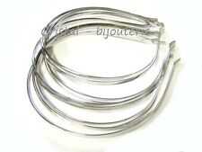 ♥FP1-237♥ 10 BASES DIADEMAS PLANAS METALICAS PARA DECORAR 5 MM ANCHO♥