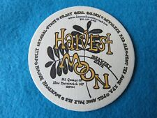 Beer Coaster ~ HARVEST MOON Brewery & Cafe ~ New Brunswick, NEW JERSEY; Est 1996