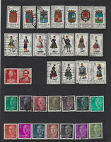 SPAIN VINTAGE STAMP COLLECTION OVER 170 DIFFERENT FROM 1909 SETS COSTUMES CASTLE