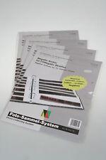 Walter Negativhüllen KB für Ringbücher A4 4er Pack mit je 10 Blatt