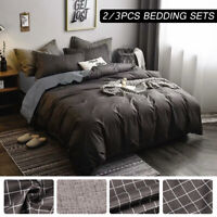 Print Duvet Quilt Cover Bedding Set With Pillowcase Single Double King