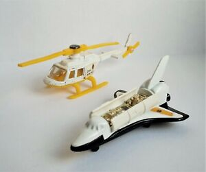 Nice vintage Corgi Juniors, 007 Moonraker - Drax Helicopter and Space Shuttle.