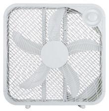 """Homepointe 20"""" White Box Fan 3 Speeds"""