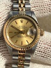 ROLEX 69173 DATE JUST GOLD18K&STEEL AUTOMATIC LADY 26mm SAPPHIRE GLASS SWISS