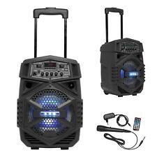 Denver Bluetooth Lautsprecher USB AUX MP3 Player Radio Karaoke Box Sound System