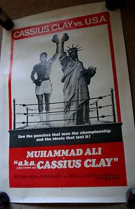 c. 1970 MUHAMMAD ALI a.k.a. Cassius Clay Vintage MOVIE POSTER - NICE!!!   (0034)