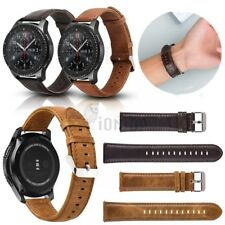 20-22mm Retro Leather Watch Band Replacement Quick Release Pin Wristband Strap