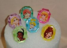 Princess,Disney,Gemstone Cupcake Rings,Cupcake topper,Bakery Crafts, Mulit-Color