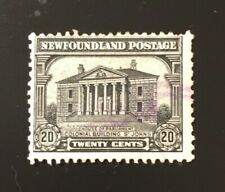 tamps Canada Newfoundland SC181 20c grey blk Colonial Bldg. 1931, see.details.