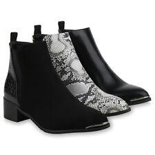 Damen Klassische Stiefeletten Gefütterte Boots Animal Print 831728 Schuhe