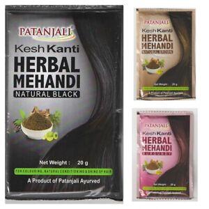 Patanjali Ayurved Kesh Kanti Herbal Mehandi Natural Black, Brown, Burgundy 20 gm