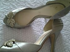 ladies wedding shoes  silver size 4