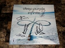 Deep Purple Band Signed Record LP Infinate DVD Ian Gillan Ian Paice Steve Morse