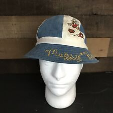 d44eb4f53d5 Vintage Disney Works Mickey Mouse Goofy Donald Duck Sports Bucket Hat Blue  Small