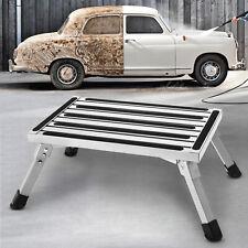 Folding Aluminum RV Step Stool Portable Ladder Platform Bench Seat Multi Purpose