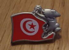 World Cup Pin Badge France 98 Tunisia Flag Football Soccer Mascot Footix 1998