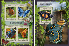 Butterflies Insects Fauna Sierra Leone MNH stamp set 2 sheets