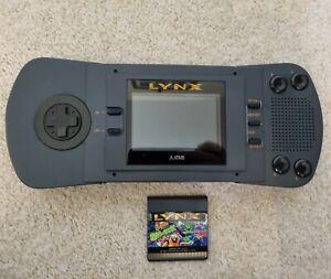 Atari Lynx MK1 Handheld games console + Game, Re-capped