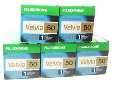 5 x FUJICHROME VELVIA 50 35mm 36 EXP CHEAP SLIDE FILM by 1st CLASS ROYAL MAIL