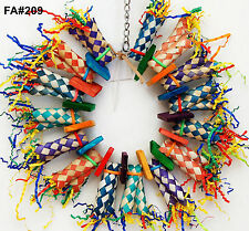 Fire Ring Shreddable Bird Parrot Cage Toy Medium Amazon Conure Cockatoo Senegal