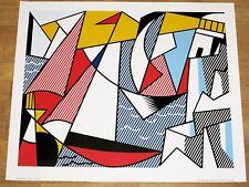 """ROY LICHTENSTEIN POSTER """" SAILBOATS """" 1963 LEO CASTELLI POPART ORIGINAL VINTAGE"""