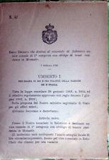 ✅1895/41 Regio Decreto che destina al consolato di SALONNICO un vice console