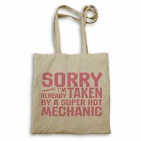 Sorry I'm taken super hot mechanic Tote bag hh333r