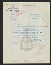 "CHATEAUNEUF (16) ALCOOL / COGNAC ""E. NORMANDIN & Cie"" en 1953"