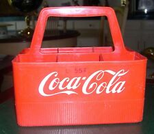 Vintage Red Plastic Coca Cola Coke Carrying Case for Bottles 1960's