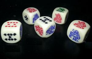 10  X POKER DICE CRAPS - NEW AND FREE SHIPPING