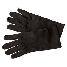 NEW Adult Black Nylon Gloves Formal Tuxedo Stretch Glove Made in USA