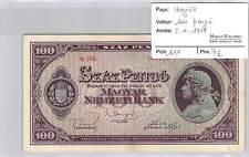 BILLET HONGRIE - 100 PENGO  5-4-1945*