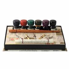 Calligraphy Set, Wood Calligraphy Pen with 5 Nibs & 6 Inks Set, Great Gift (652)