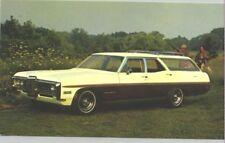 1968 Pontiac Executive 3-Seat Safari Wagon Advertising Postcard