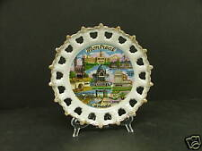 """Souvenir PLATE Montreal Canada reticulated 22 k gold Lefton ESD Japan NL24615 6"""""""