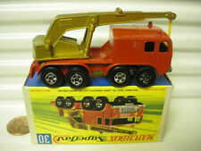 LESNEY MATCHBOX 1970 MB30A RED + GOLD 8 WHEEL CRANE MINT BOXED*