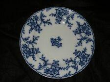 """ANTIQUE MINTON ANEMONE FLOW BLUE SOUP PLATE 10 3/8"""""""