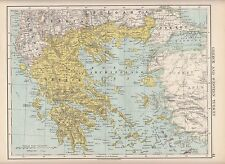 1923 MAP ~ GREECE & WESTERN TURKEY ~ ARCHIPELAGO MOREA CYCLADES